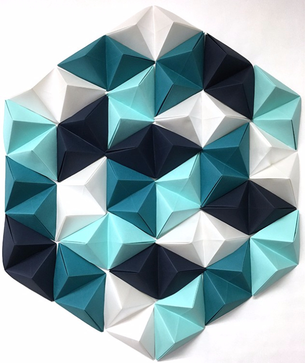 Easy DIY Projects - DIY Geometric Paper Wall Art - Easy DIY Crafts and Projects - Simple Craft Ideas for Beginners, Cool Crafts To Make and Sell, Simple Home Decor, Fast DIY Gifts, Cheap and Quick Project Tutorials #diy #crafts #easycrafts