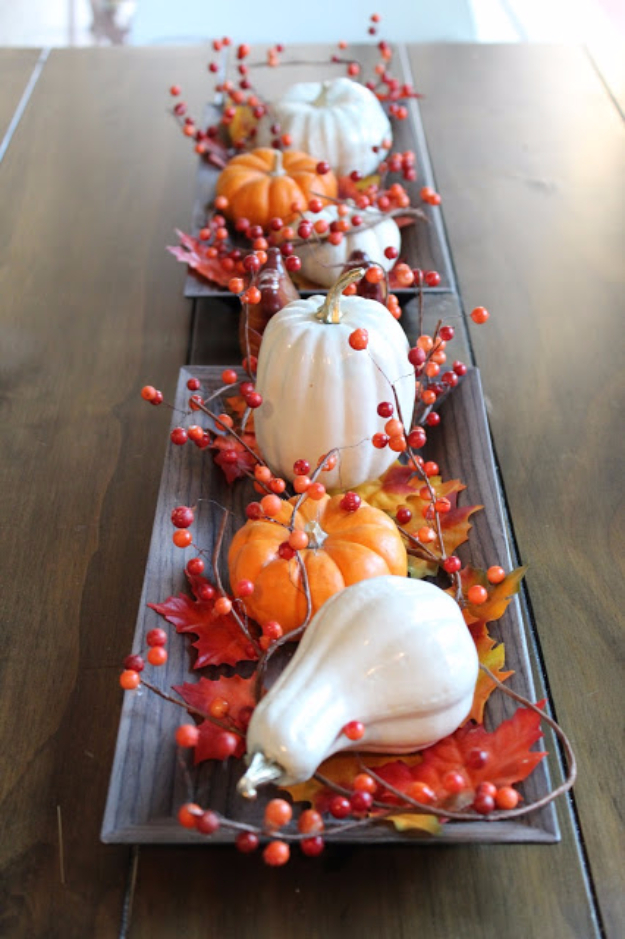 38 Best DIY Projects for Fall - DIY Inexpensive Faux Ceramic Pumpkins Centerpiece - Quick And Easy Projects For Fall, Fun DIY Projects To Try This Fall, Cute Fall Craft Ideas, Fall Decors, Easy DIY Crafts For Fall http://diyjoy.com/diy-projects-for-fall