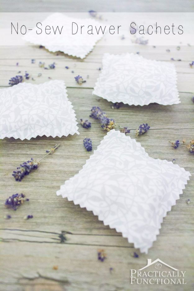 Quick Last Minute DIY Gifts You Can Make - DIY No Sew Drawer Sachets - Easy and Quick Last Minute DIY Gift Ideas for Mom, Dad, Him or Her, Freinds, Teens, Kids, Girls and Boys. Fast Crafts and Fun Ideas in A Jar, Birthday Presents - Step by Step Tutorials #diygifts #xmas #christmasgifts #quickgifts