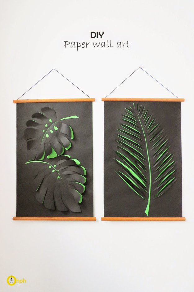 DIY Wall Art Ideas for the Bedroom - DIY Paper Wall Art - Rustic Decorating Projects For Bedroom, Brilliant Wall Art Projects, Creative Wall Art, Do It Yourself Crafts, Easy Wall Art, Bedroom Decor on a Budget, Bedroom - Paintings, Canvas Art Ideas, Wall Hangings