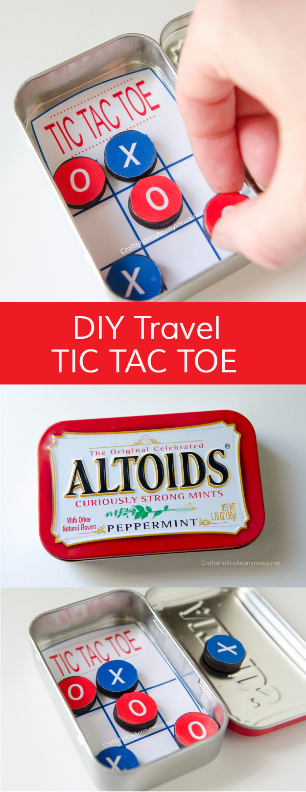 Dollar Store Crafts - DIY Pocket Tic Tac Toe - Best Cheap DIY Dollar Store Craft Ideas for Kids, Teen, Adults, Gifts and For Home #dollarstore #crafts #cheapcrafts #diy