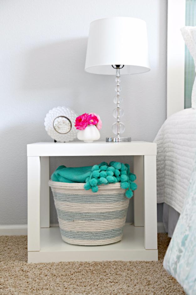 Dollar Store Crafts - DIY Rope Basket - Best Cheap DIY Dollar Store Craft Ideas for Kids, Teen, Adults, Gifts and For Home #dollarstore #crafts #cheapcrafts #diy