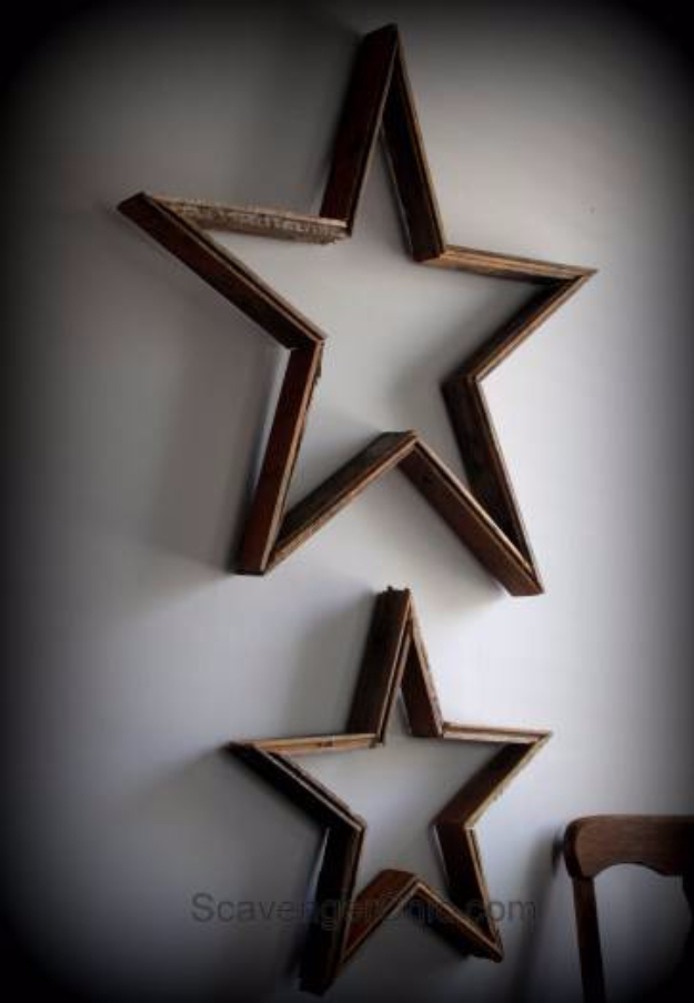 DIY Wall Art Ideas for the Bedroom - DIY Rustic Reclaimed Wood Farmhouse Vintage Americana Wall Art - Rustic Decorating Projects For Bedroom, Brilliant Wall Art Projects, Creative Wall Art, Do It Yourself Crafts, Easy Wall Art, Bedroom Decor on a Budget, Bedroom - Paintings, Canvas Art Ideas, Wall Hangings