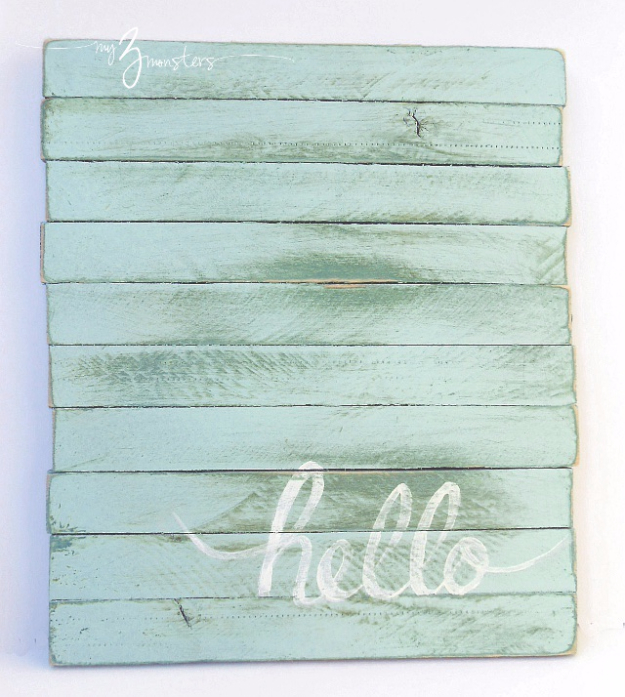 DIY Wall Art Ideas for the Bedroom - DIY Wall Art With Wood Shims - Rustic Decorating Projects For Bedroom, Brilliant Wall Art Projects, Creative Wall Art, Do It Yourself Crafts, Easy Wall Art, Bedroom Decor on a Budget, Bedroom - Paintings, Canvas Art Ideas, Wall Hangings