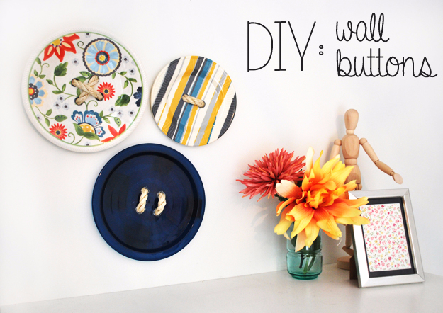 DIY Wall Art Ideas for the Bedroom - DIY Wall Buttons - Rustic Decorating Projects For Bedroom, Brilliant Wall Art Projects, Creative Wall Art, Do It Yourself Crafts, Easy Wall Art, Bedroom Decor on a Budget, Bedroom - Paintings, Canvas Art Ideas, Wall Hangings
