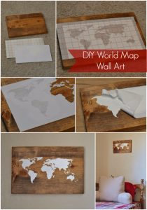 Diy world map wall art diy joy diy world map wall art gumiabroncs Image collections