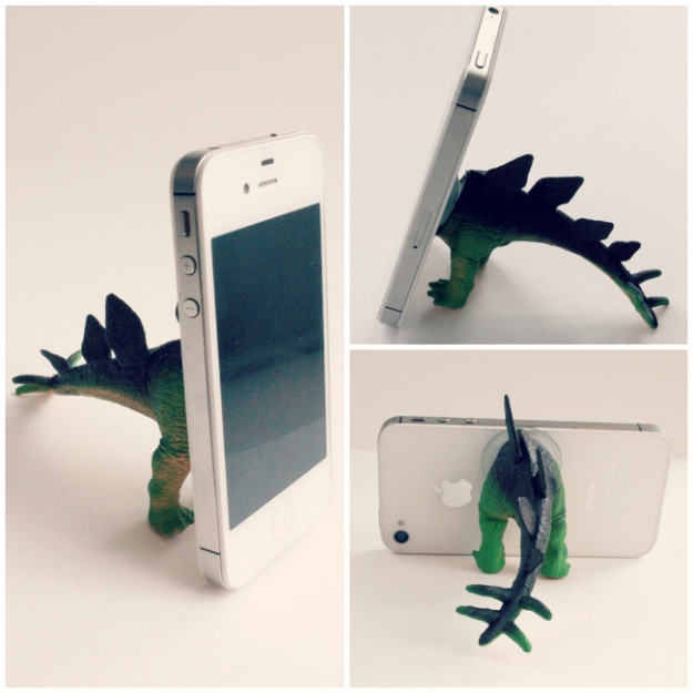 Dollar Store Crafts - Dino iPhone Tripod - Best Cheap DIY Dollar Store Craft Ideas for Kids, Teen, Adults, Gifts and For Home #dollarstore #crafts #cheapcrafts #diy