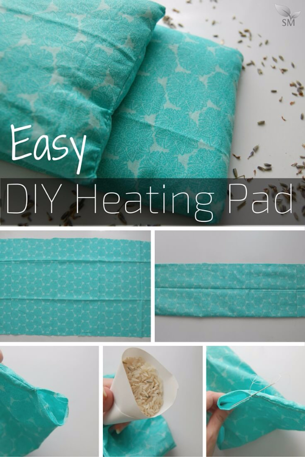 Easy DIY Projects - Easy DIY Heating Pad - Easy DIY Crafts and Projects - Simple Craft Ideas for Beginners, Cool Crafts To Make and Sell, Simple Home Decor, Fast DIY Gifts, Cheap and Quick Project Tutorials #diy #crafts #easycrafts