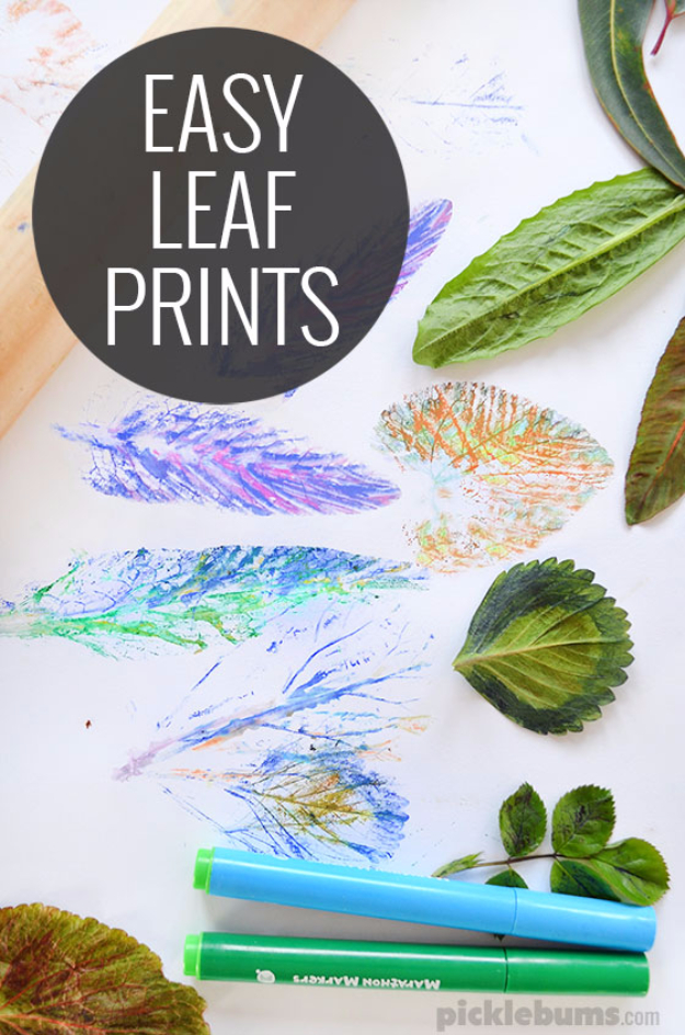 Easy DIY Projects - Easy Leaf Printing - Easy DIY Crafts and Projects - Simple Craft Ideas for Beginners, Cool Crafts To Make and Sell, Simple Home Decor, Fast DIY Gifts, Cheap and Quick Project Tutorials #diy #crafts #easycrafts