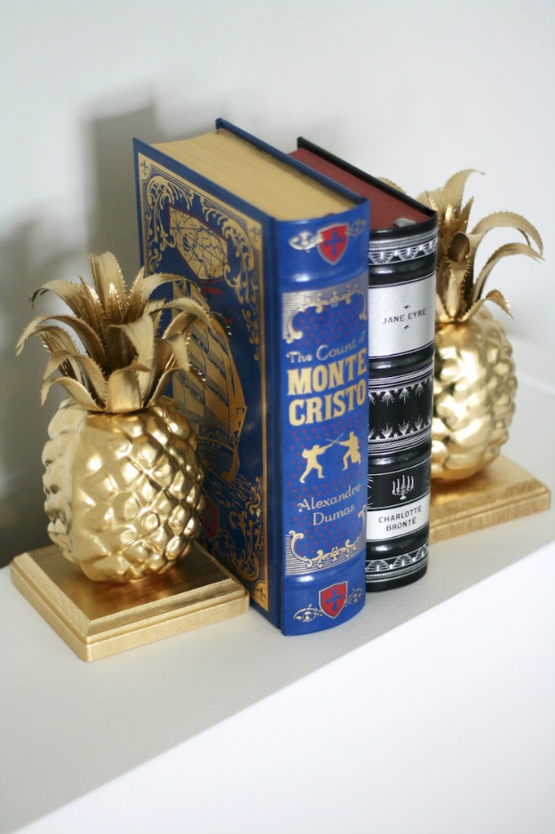 41 Easiest DIY Projects Ever - Easy Pineapple DIY Bookeneds - Easy DIY Crafts and Projects - Simple Craft Ideas for Beginners, Cool Crafts To Make and Sell, Simple Home Decor, Fast DIY Gifts, Cheap and Quick Project Tutorials http://diyjoy.com/easy-diy-projects