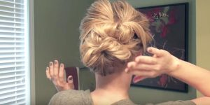 This Attractive Updo Is Easier Than It Looks So Watch How She Does This!