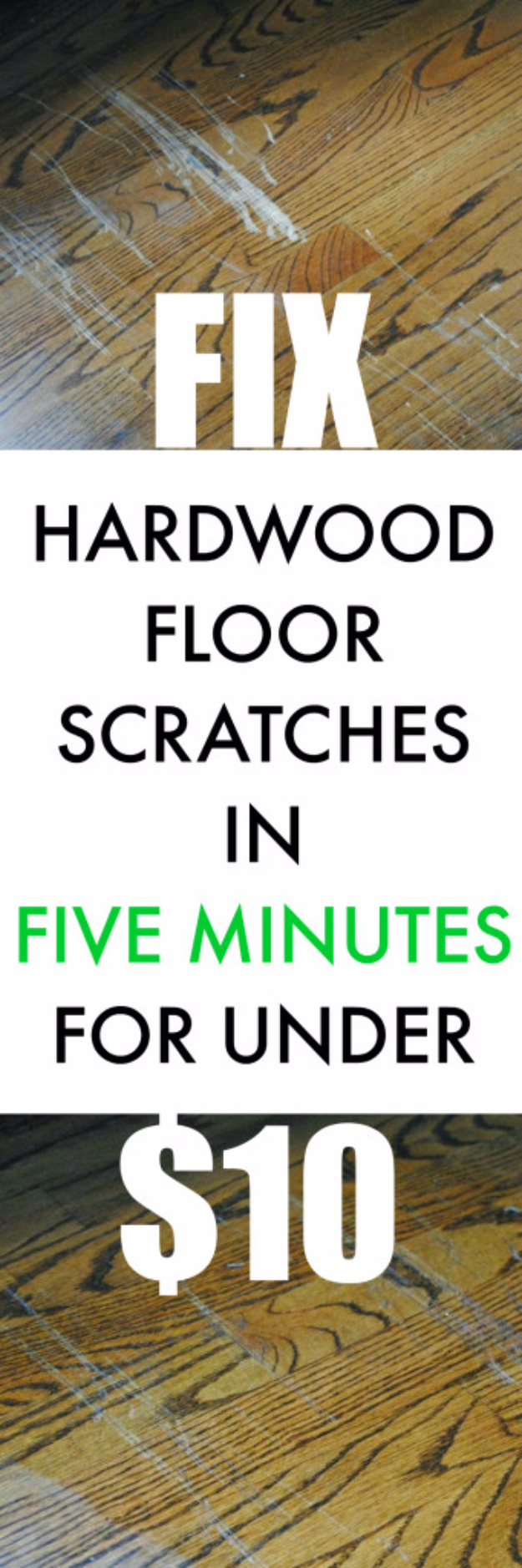 DIY Home Improvement Ideas- Fix Scratched Hardwood Floors In About 5 Minutes - Home Repair Ideas, Home Repairs On A Budget, Home Repair Tips, Living Room, Bedroom, Kitchen Repair, Home Improvement, Quick And Easy Home Tips #diy #homeimprovement #diyhome #homerepair