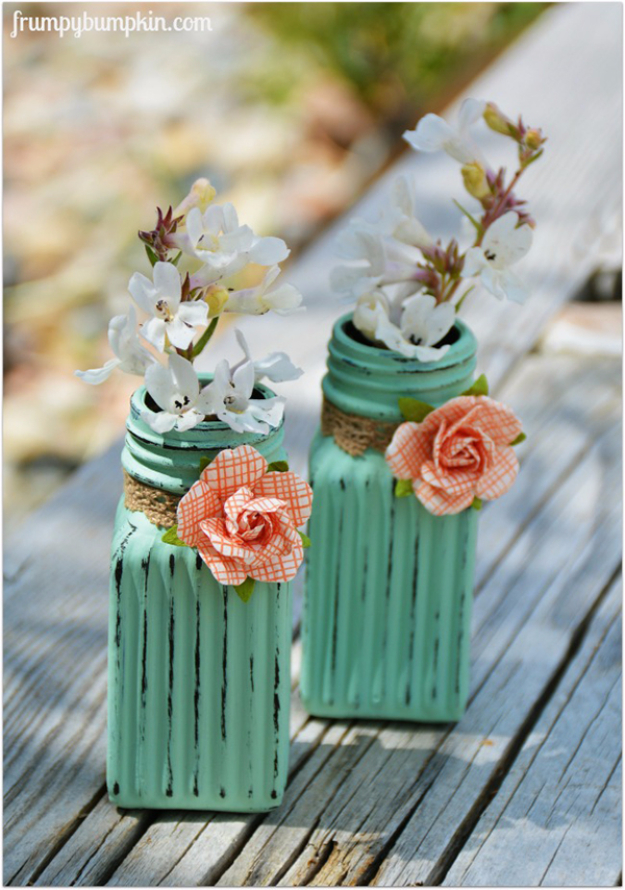 Dollar Store Crafts - Flower Vases From Salt And Pepper Shakers - Best Cheap DIY Dollar Store Craft Ideas for Kids, Teen, Adults, Gifts and For Home #dollarstore #crafts #cheapcrafts #diy