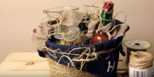 She Found The Best Pottery Barn Inspired Dollar Store Gift Basket Idea Ever!