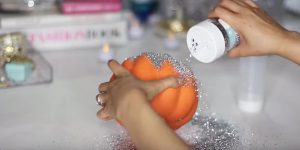 When She Puts Glitter On This Foam Pumpkin She Does Something Brilliant With It! (STUNNING!)