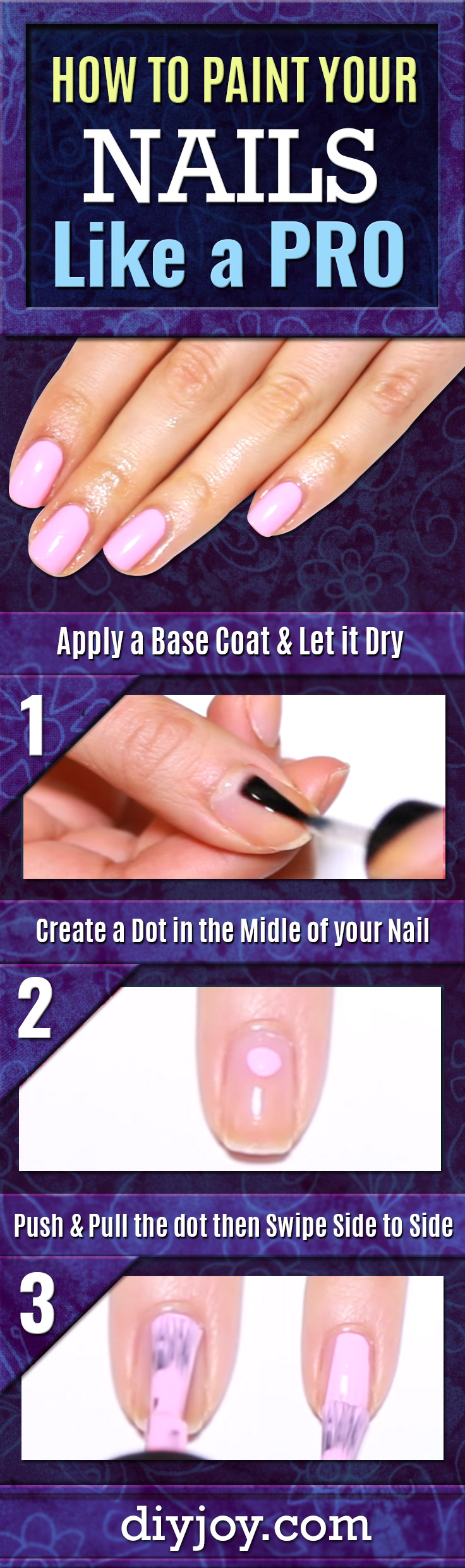 She Shows You How Paint Your Nails Like A Pro With A Few Clever Tips ...