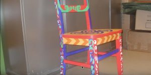 Pick Up A Thrift Store Chair And Paint This Fabulous Art Deco Gem! (Watch!)