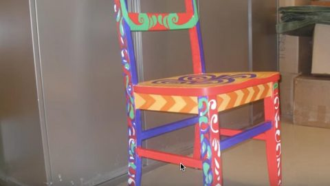 Pick Up A Thrift Store Chair And Paint This Fabulous Art Deco Gem! (Watch!) | DIY Joy Projects and Crafts Ideas