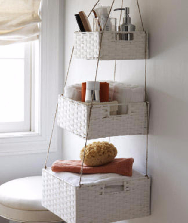 Dollar Store Crafts - Hanging Baskets - Best Cheap DIY Dollar Store Craft Ideas for Kids, Teen, Adults, Gifts and For Home #dollarstore #crafts #cheapcrafts #diy