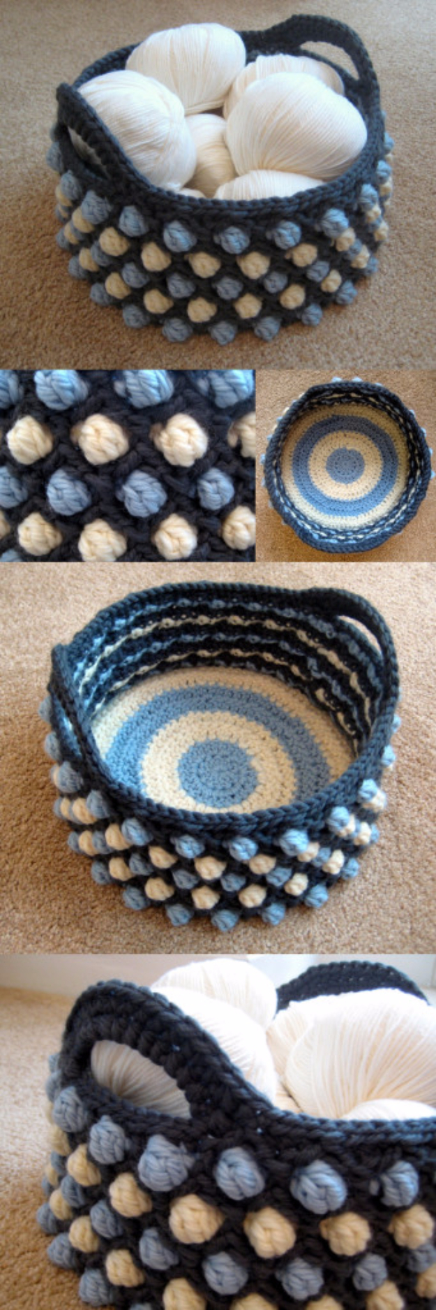 38 Easy Knitting Ideas - Honeycomb Pop Basket - Knitting Ideas For Beginners, Cute Kinitting Projects, Knitting Ideas And Patterns, Easy Knitting Crafts, Gifts You Can Knit#diy #knitting