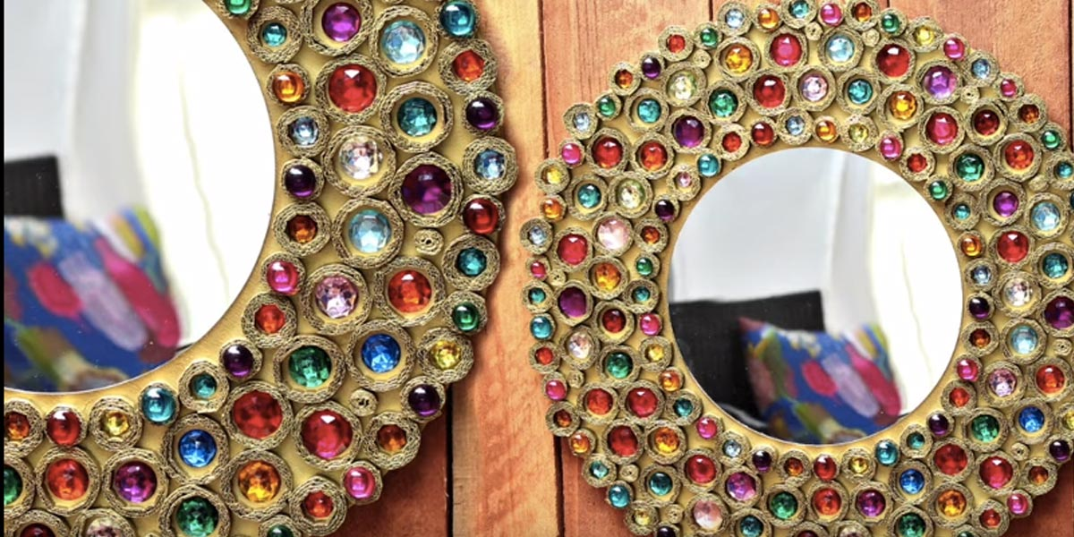 This Stunning Bejeweled Mirror Is So Cheap And Easy You Ll