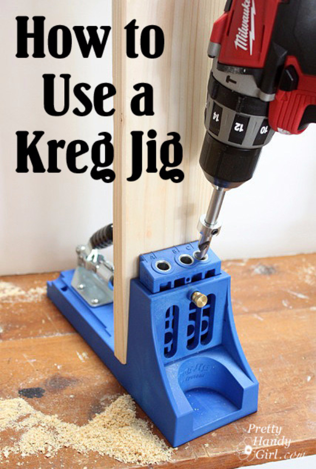 Cool Woodworking Tips - Kreg Jig Tutorial - Easy Woodworking Ideas, Woodworking Tips and Tricks, Woodworking Tips For Beginners, Basic Guide For Woodworking #woodworking