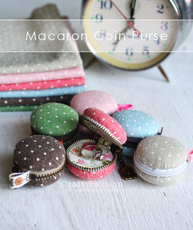Dollar Store Crafts - Macaron Coin Purse - Best Cheap DIY Dollar Store Craft Ideas for Kids, Teen, Adults, Gifts and For Home #dollarstore #crafts #cheapcrafts #diy