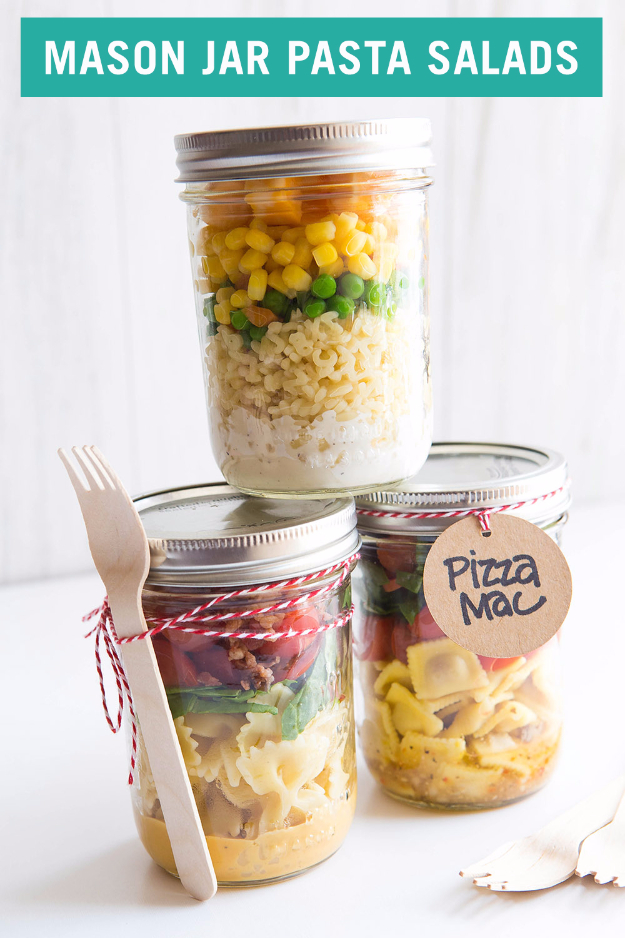 Mason Jar Pasta Salads