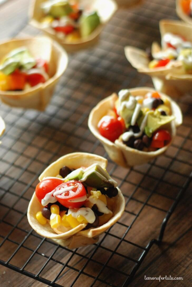 33 Easy Recipes for Back To School - Mini Taco Tortilla Cups - Quick and Delicious Recipe Ideas for Kids and Adults. Pack for School Lunches, Make Ahead for Work, Freeze and Store for Early Morning Breakfasts, Super Lunch Meals, Simple Snacks and Dinner