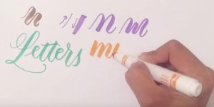 Learn How to Write Modern Brush Calligraphy With Crayola Markers! (EASY!)