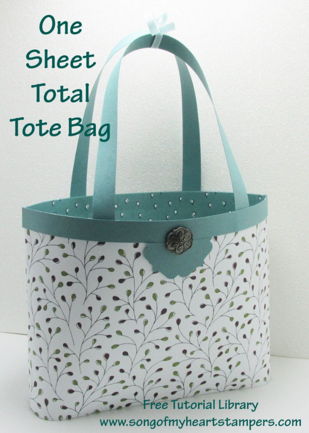 Quick Last Minute DIY Gifts You Can Make - One Sheet Total Tote Bag - Easy and Quick Last Minute DIY Gift Ideas for Mom, Dad, Him or Her, Freinds, Teens, Kids, Girls and Boys. Fast Crafts and Fun Ideas in A Jar, Birthday Presents - Step by Step Tutorials #diygifts #xmas #christmasgifts #quickgifts