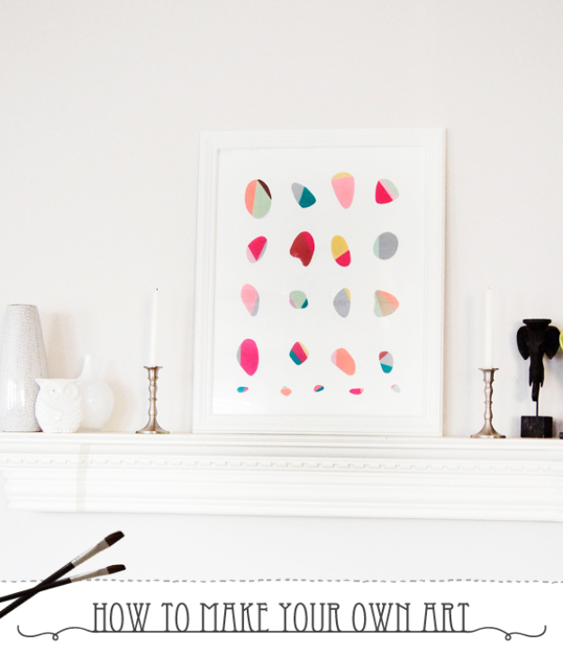 DIY Wall Art Ideas for the Bedroom - Painted Pebble Wall Art - Rustic Decorating Projects For Bedroom, Brilliant Wall Art Projects, Creative Wall Art, Do It Yourself Crafts, Easy Wall Art, Bedroom Decor on a Budget, Bedroom - Paintings, Canvas Art Ideas, Wall Hangings