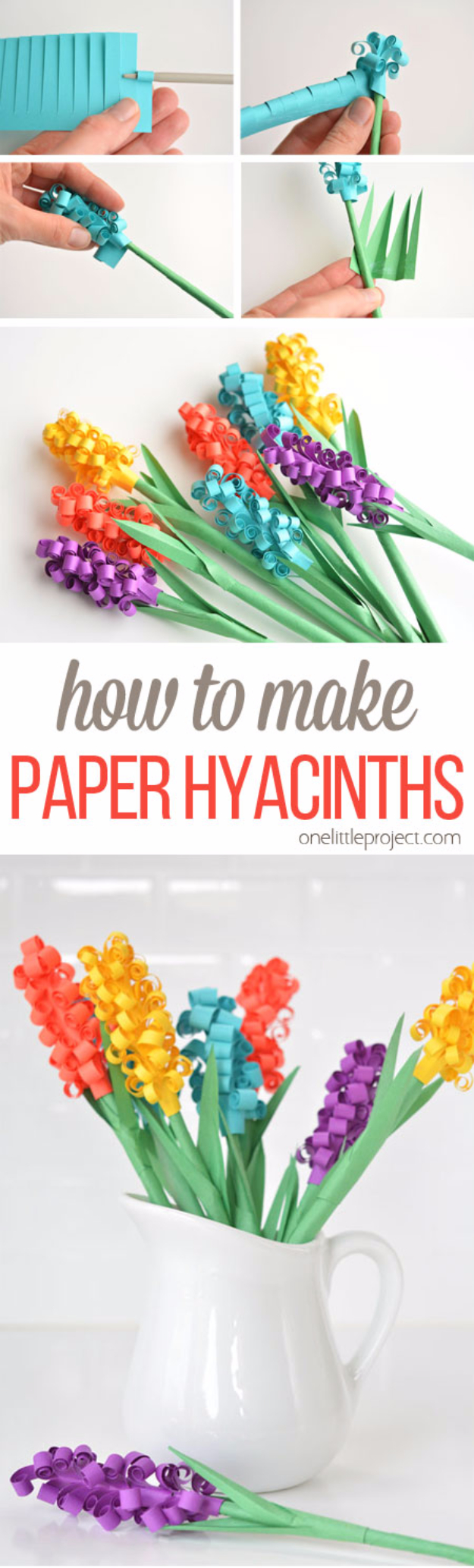 Easy DIY Projects - Paper Hyacinth Flowers - Easy DIY Crafts and Projects - Simple Craft Ideas for Beginners, Cool Crafts To Make and Sell, Simple Home Decor, Fast DIY Gifts, Cheap and Quick Project Tutorials #diy #crafts #easycrafts
