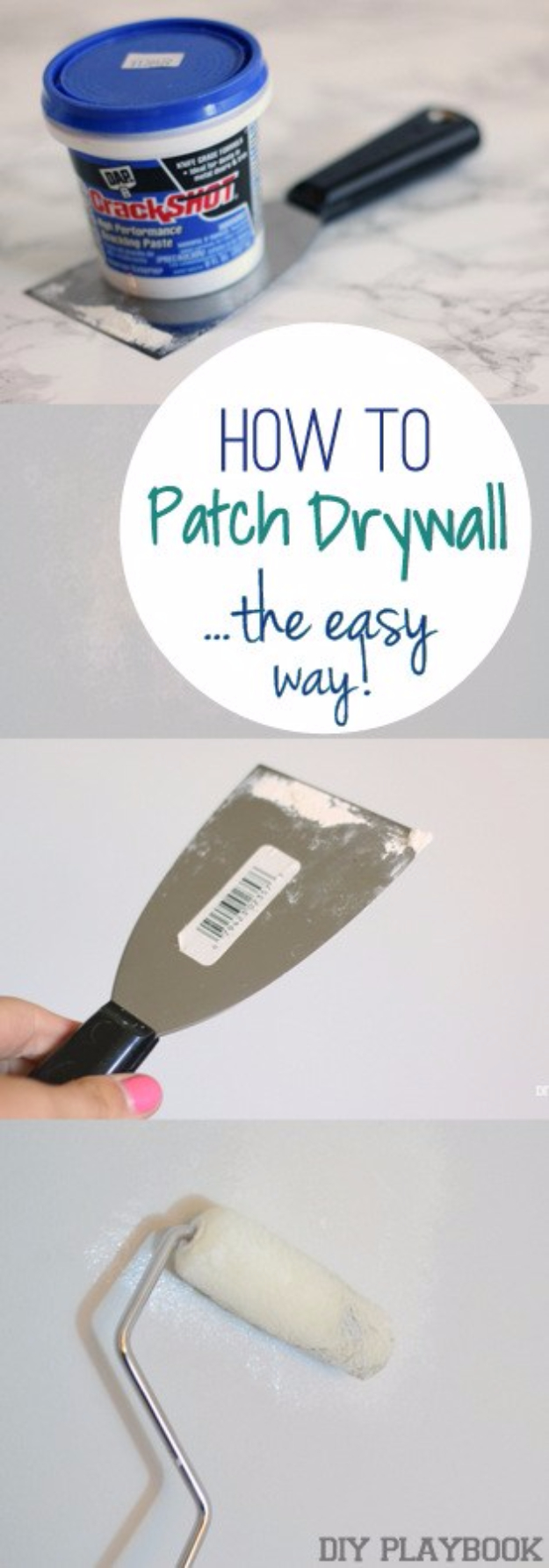DIY Home Improvement Ideas- Patch Dry Wall The Easy Way - Home Repair Ideas, Home Repairs On A Budget, Home Repair Tips, Living Room, Bedroom, Kitchen Repair, Home Improvement, Quick And Easy Home Tips #diy #homeimprovement #diyhome #homerepair
