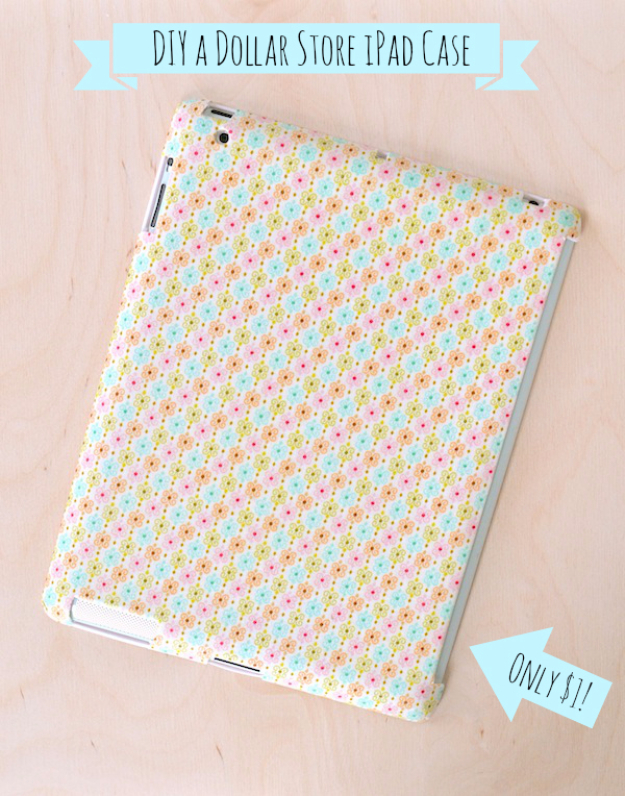 Dollar Store Crafts - Patterned Tablet Case - Best Cheap DIY Dollar Store Craft Ideas for Kids, Teen, Adults, Gifts and For Home #dollarstore #crafts #cheapcrafts #diy