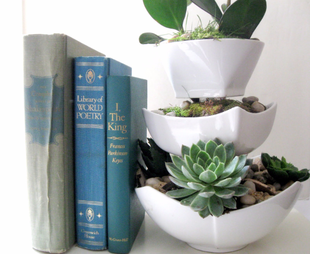 Dollar Store Crafts - Planter Using Dollar Store Bowls - Best Cheap DIY Dollar Store Craft Ideas for Kids, Teen, Adults, Gifts and For Home #dollarstore #crafts #cheapcrafts #diy