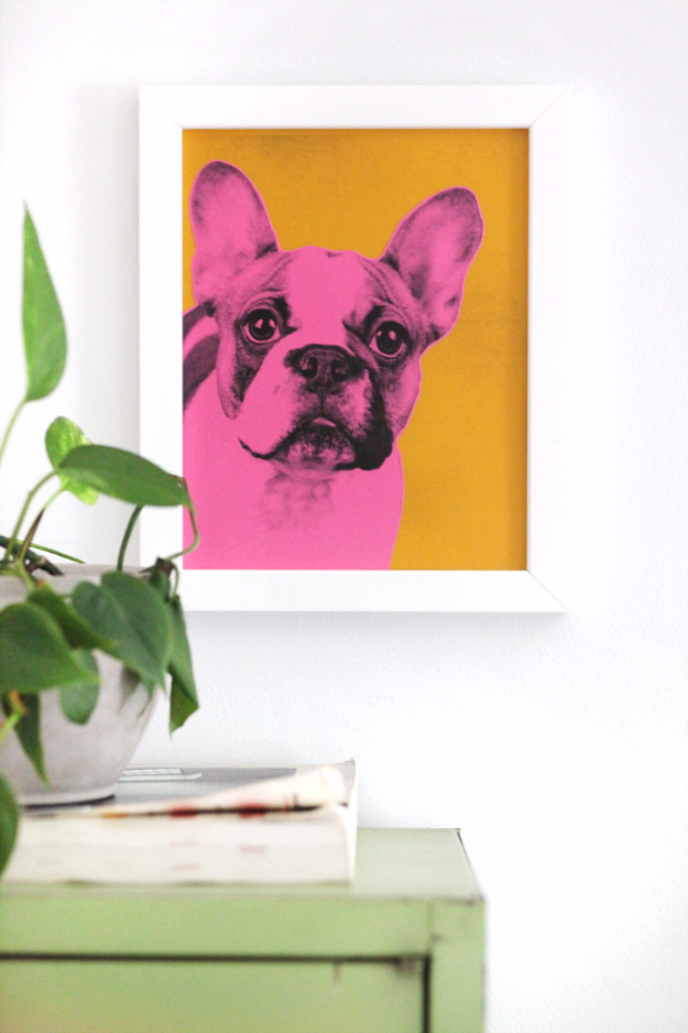 DIY Wall Art Ideas for the Bedroom - Pop Art Pet Portrait - Rustic Decorating Projects For Bedroom, Brilliant Wall Art Projects, Creative Wall Art, Do It Yourself Crafts, Easy Wall Art, Bedroom Decor on a Budget, Bedroom - Paintings, Canvas Art Ideas, Wall Hangings