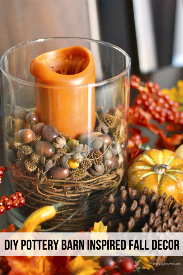 38 Best DIY Projects for Fall - Pottery Barn Inspired Fall Decor - Quick And Easy Projects For Fall, Fun DIY Projects To Try This Fall, Cute Fall Craft Ideas, Fall Decors, Easy DIY Crafts For Fall