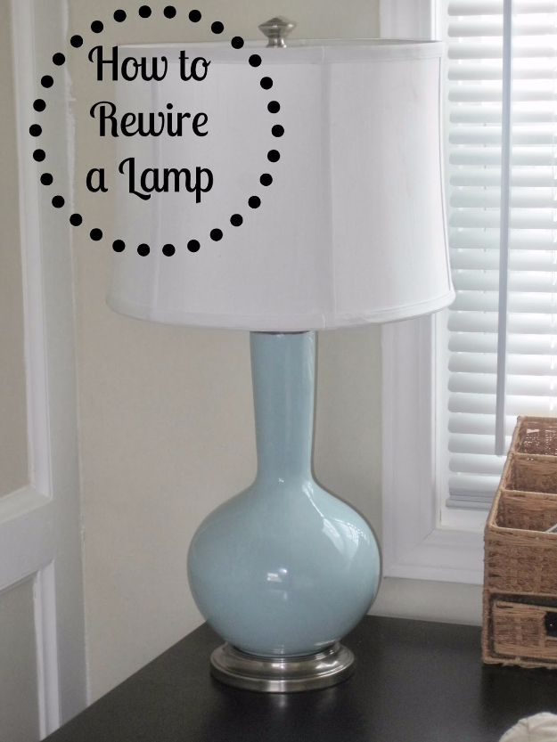 DIY Home Improvement Ideas- Rewire A Lamp - Home Repair Ideas, Home Repairs On A Budget, Home Repair Tips, Living Room, Bedroom, Kitchen Repair, Home Improvement, Quick And Easy Home Tips #diy #homeimprovement #diyhome #homerepair