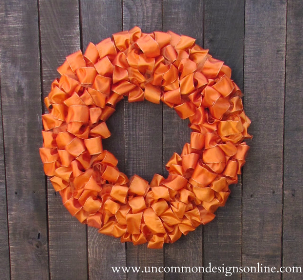 35 Fall Wreaths for Your Door - Ribbon Wreath Tutorial - Fall Wreaths For Front Door, Fall Wreaths Ideas To Try, Easy DIY Fall Wreaths, Brilliant Fall Wreath DIY, Porch Decor, Cool Ideas For Fall, Fall Projects