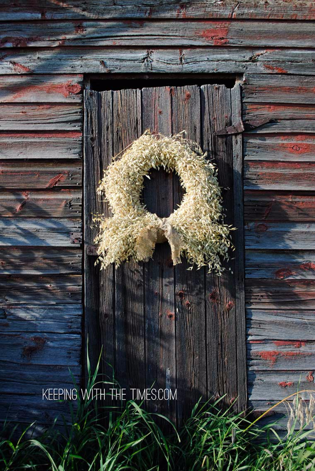 35 Fall Wreaths for Your Door - Rustic Country Whole Grain Wreath - Fall Wreaths For Front Door, Fall Wreaths Ideas To Try, Easy DIY Fall Wreaths, Brilliant Fall Wreath DIY, Porch Decor, Cool Ideas For Fall, Fall Projects