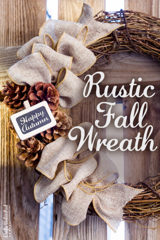 35 Fall Wreaths for Your Door - Rustic Fall Wreath - Fall Wreaths For Front Door, Fall Wreaths Ideas To Try, Easy DIY Fall Wreaths, Brilliant Fall Wreath DIY, Porch Decor, Cool Ideas For Fall, Fall Projects