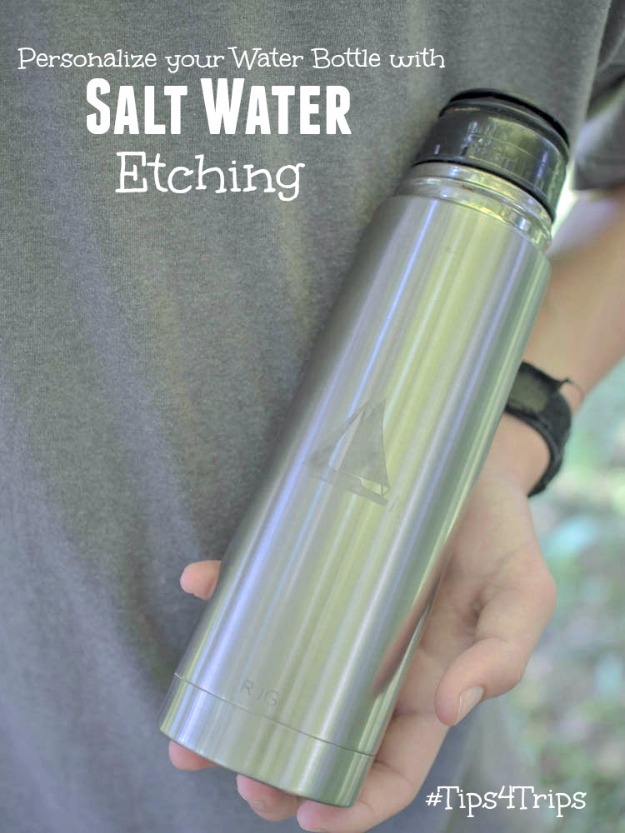 Easy DIY Projects - Salt Water Etched Bottle - Easy DIY Crafts and Projects - Simple Craft Ideas for Beginners, Cool Crafts To Make and Sell, Simple Home Decor, Fast DIY Gifts, Cheap and Quick Project Tutorials #diy #crafts #easycrafts