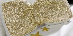 Here's How To Make A Glamorous Pottery Barn Inspired Sequin Bow Pillow! (Easy!)