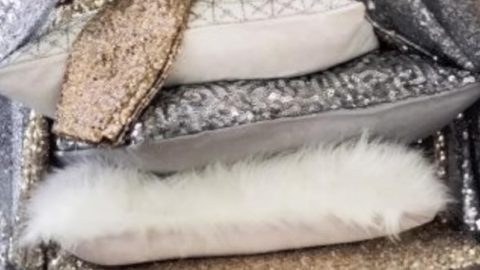 Bring Some Glitz And Shimmer To Your Decor With These Stunning Sequined Pillows! | DIY Joy Projects and Crafts Ideas