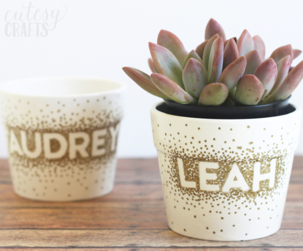 Easy DIY Projects - Sharpie Dot Flower Pot Craft - Easy DIY Crafts and Projects - Simple Craft Ideas for Beginners, Cool Crafts To Make and Sell, Simple Home Decor, Fast DIY Gifts, Cheap and Quick Project Tutorials #diy #crafts #easycrafts
