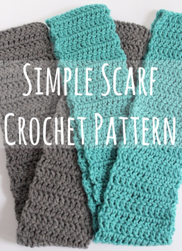 35 Easy Crochet Patterns - Simple Scarf Crochet Pattern - Crochet Patterns For Beginners, Quick And Easy Crochet Patterns, Crochet Ideas To Try, Crochet Ideas To Make And Sell, Easy Crochet Ideas #crochet #crochetpatterns #diygifts