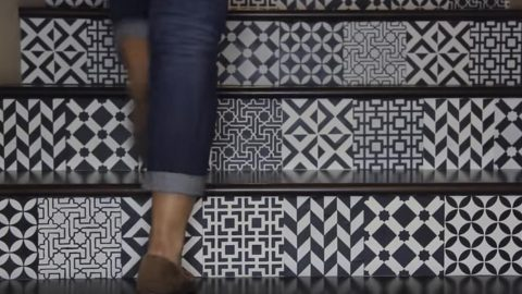 Watch The Absolutely Fascinating Way She Transforms Her Stairs Into A Work of Art! | DIY Joy Projects and Crafts Ideas