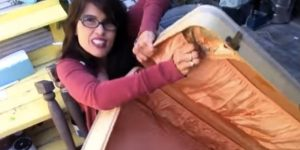 She Tears Out The Lining Of This Old Suitcase And Watch What She Does Next! (SO CLEVER!)