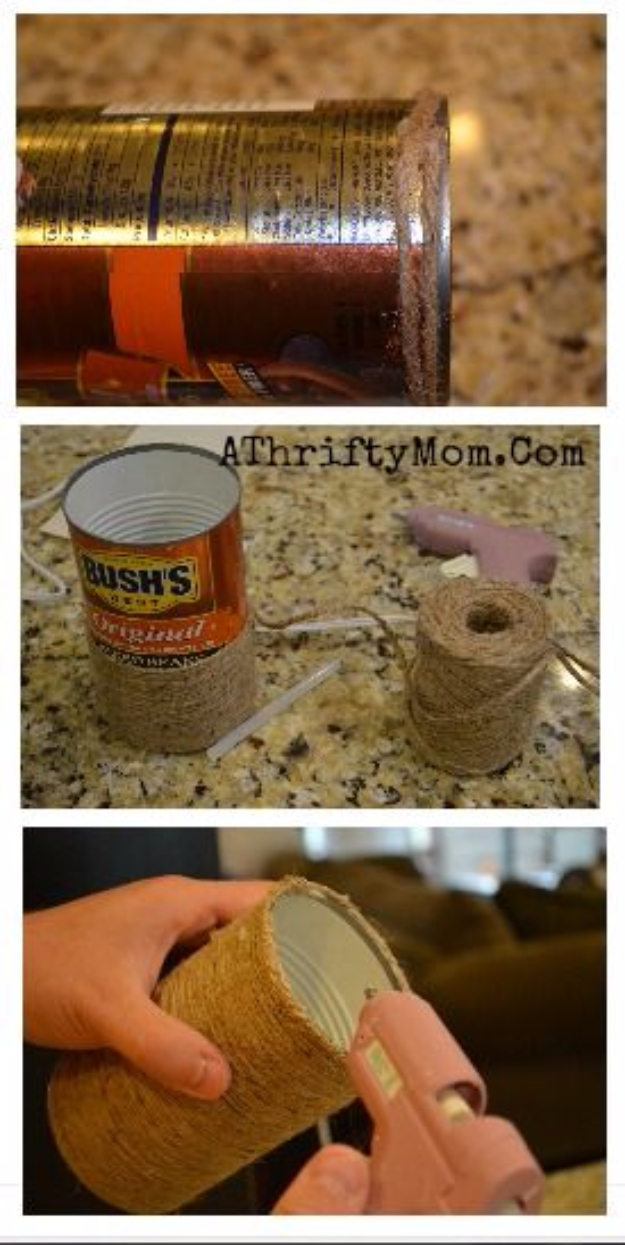 Dollar Store Crafts - TWINE VASE AND FALL BOUQUET - Best Cheap DIY Dollar Store Craft Ideas for Kids, Teen, Adults, Gifts and For Home #dollarstore #crafts #cheapcrafts #diy